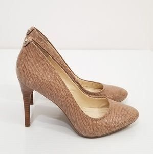 Calvin Klein Whinnie faux snake/reptile skin heels